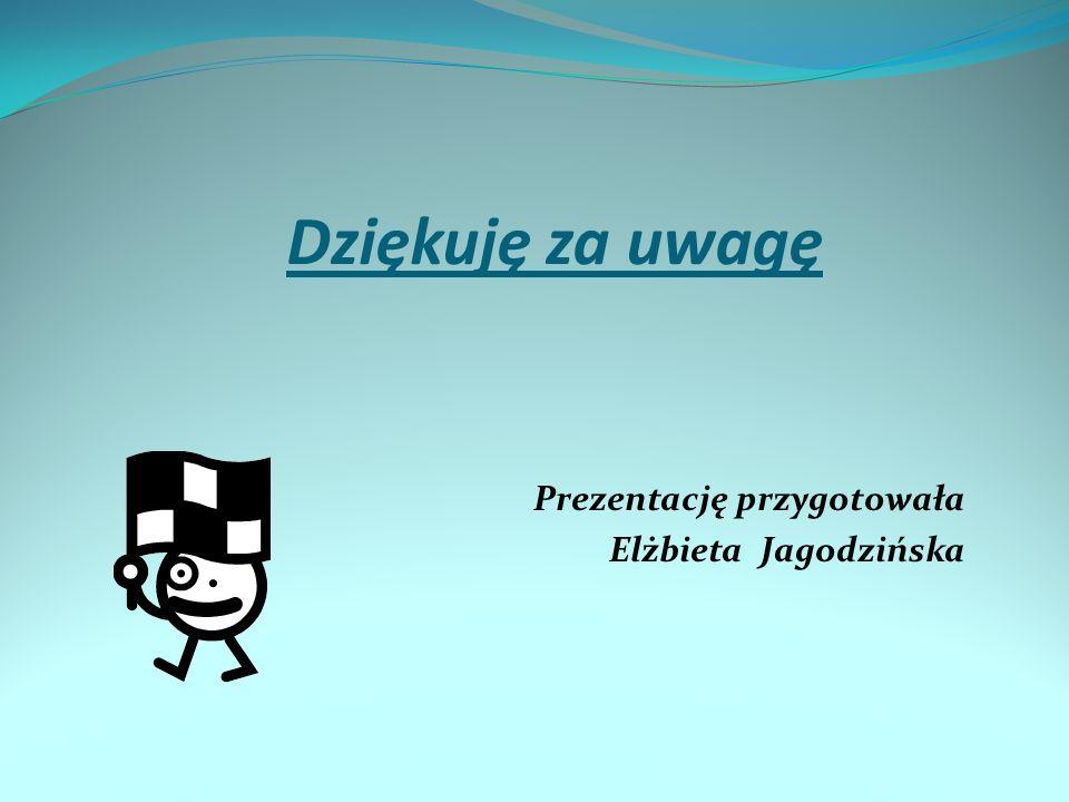 Dziękuję za uwagę Prezentację przygotowała Elżbieta Jagodzińska