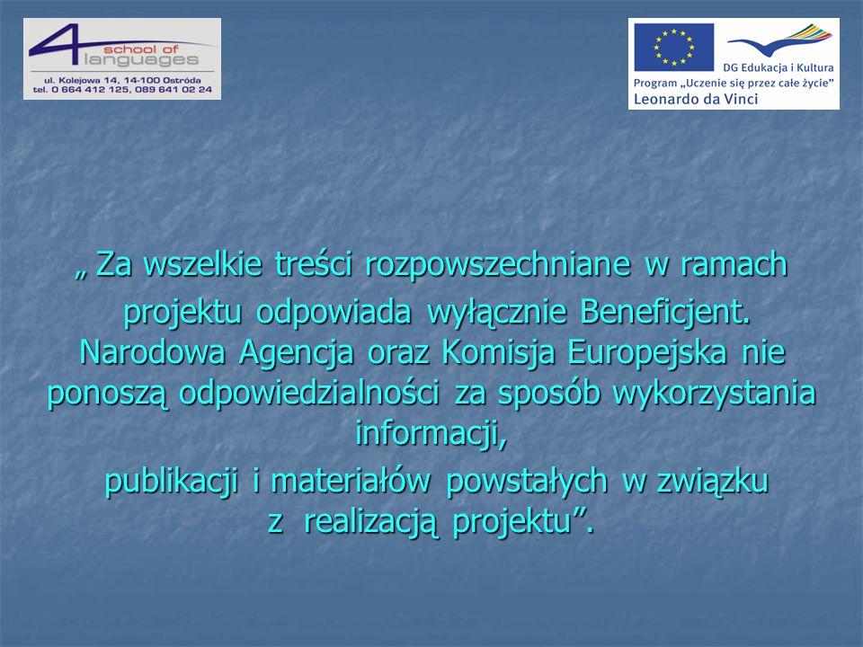 publikacji i materiałów powstałych w związku z realizacją projektu .