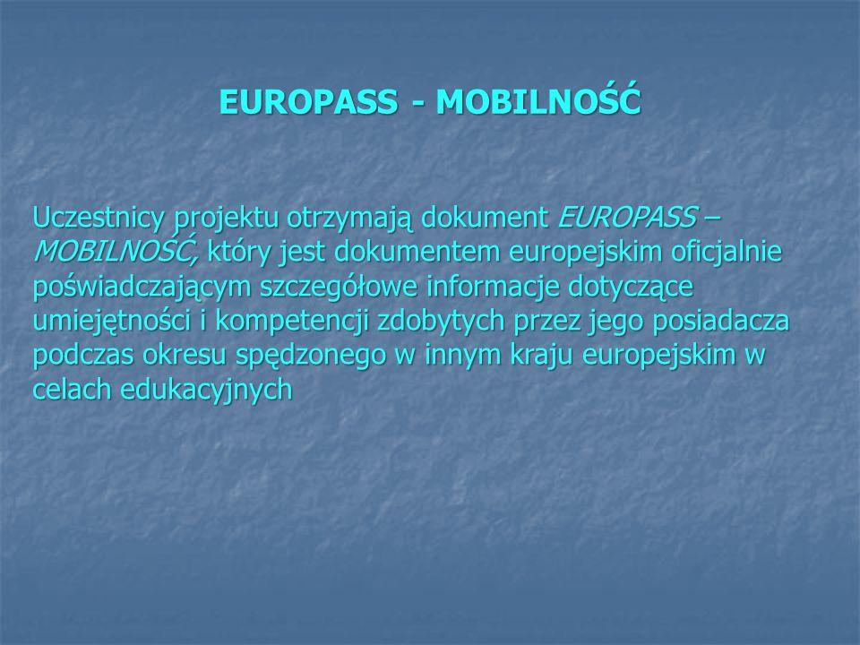 EUROPASS - MOBILNOŚĆ
