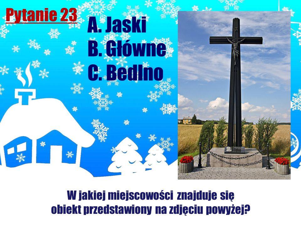 A. Jaski B. Główne C. Bedlno Pytanie 23