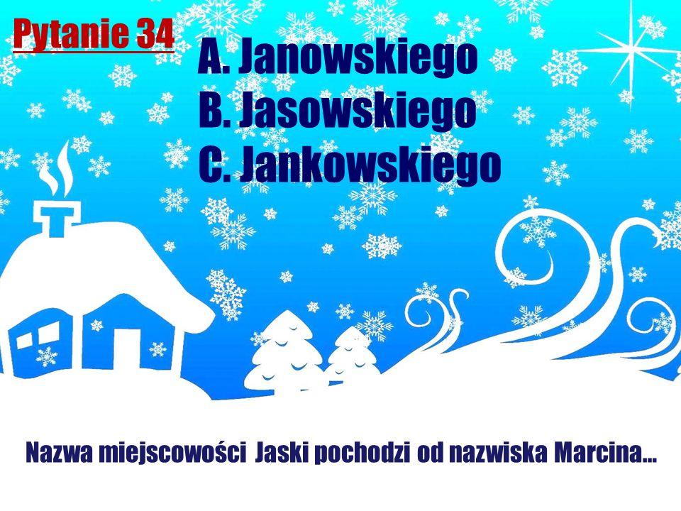 Nazwa miejscowości Jaski pochodzi od nazwiska Marcina…