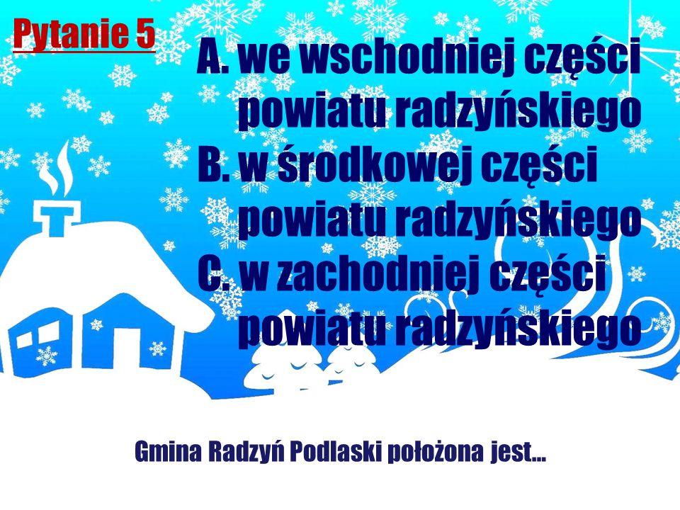 Gmina Radzyń Podlaski położona jest…