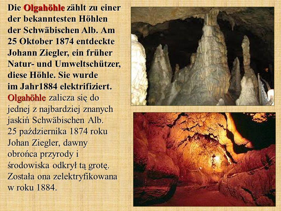 Die Olgahöhle zählt zu einer der bekanntesten Höhlen der Schwäbischen Alb.
