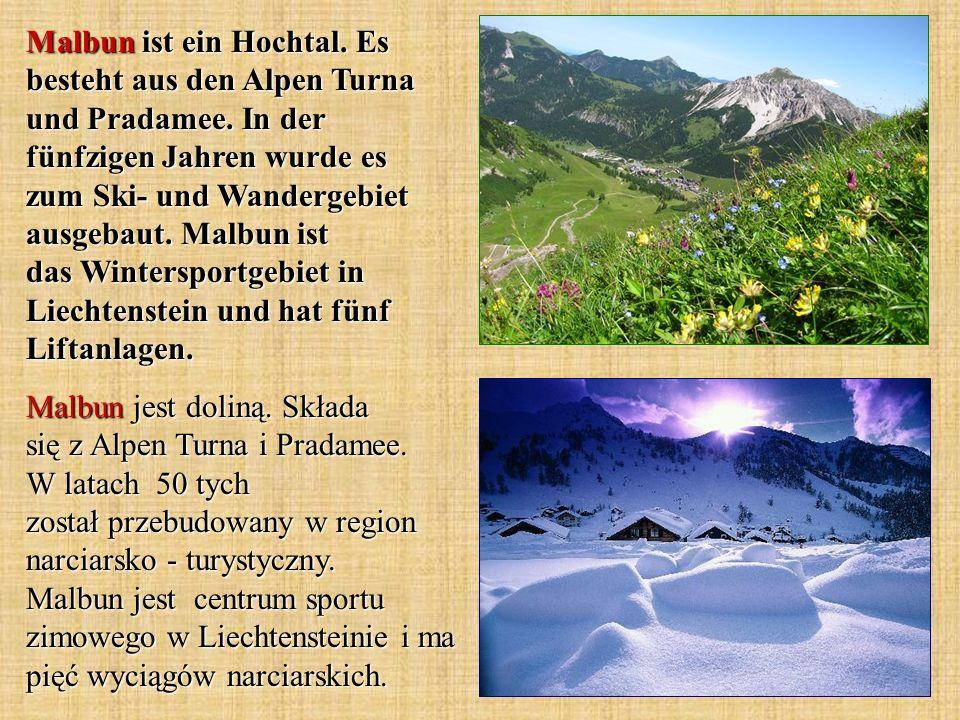 Malbun ist ein Hochtal. Es besteht aus den Alpen Turna und Pradamee