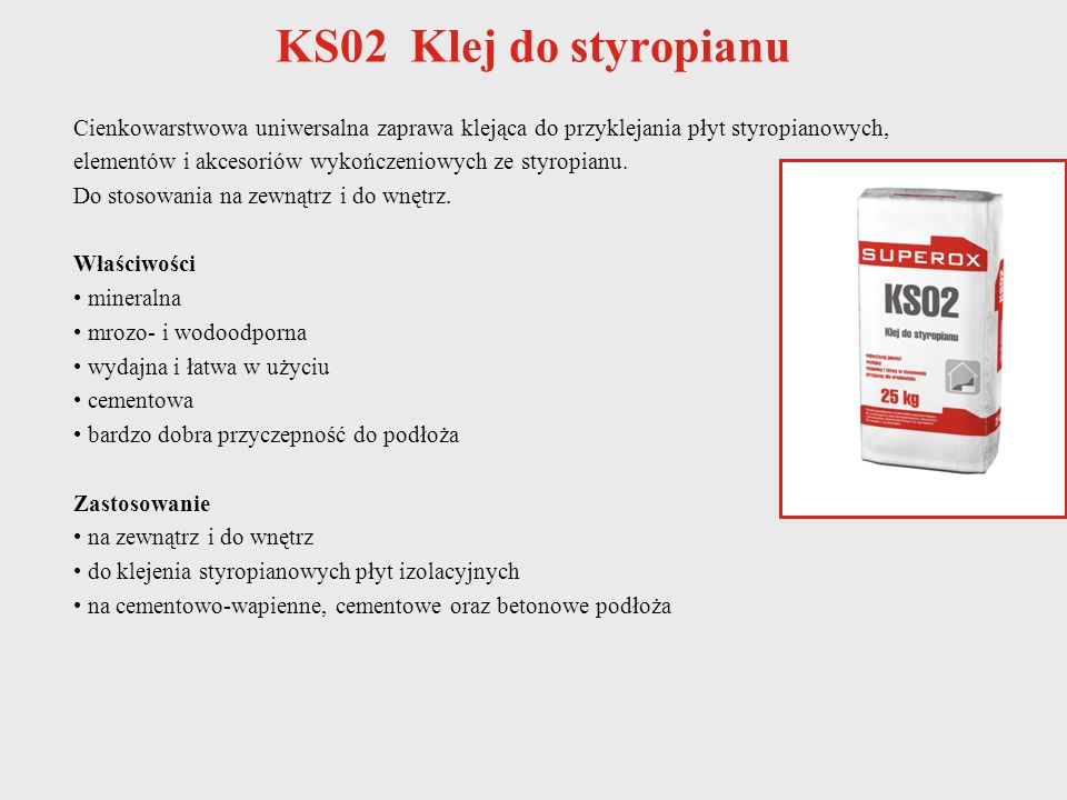 KS02 Klej do styropianu