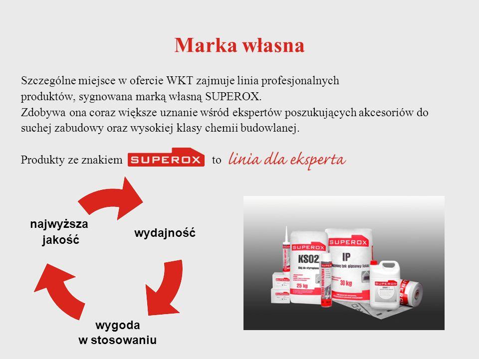 Marka własna Szczególne miejsce w ofercie WKT zajmuje linia profesjonalnych. produktów, sygnowana marką własną SUPEROX.