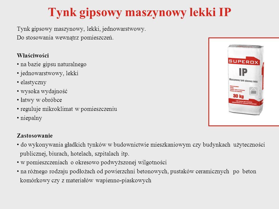 Tynk gipsowy maszynowy lekki IP