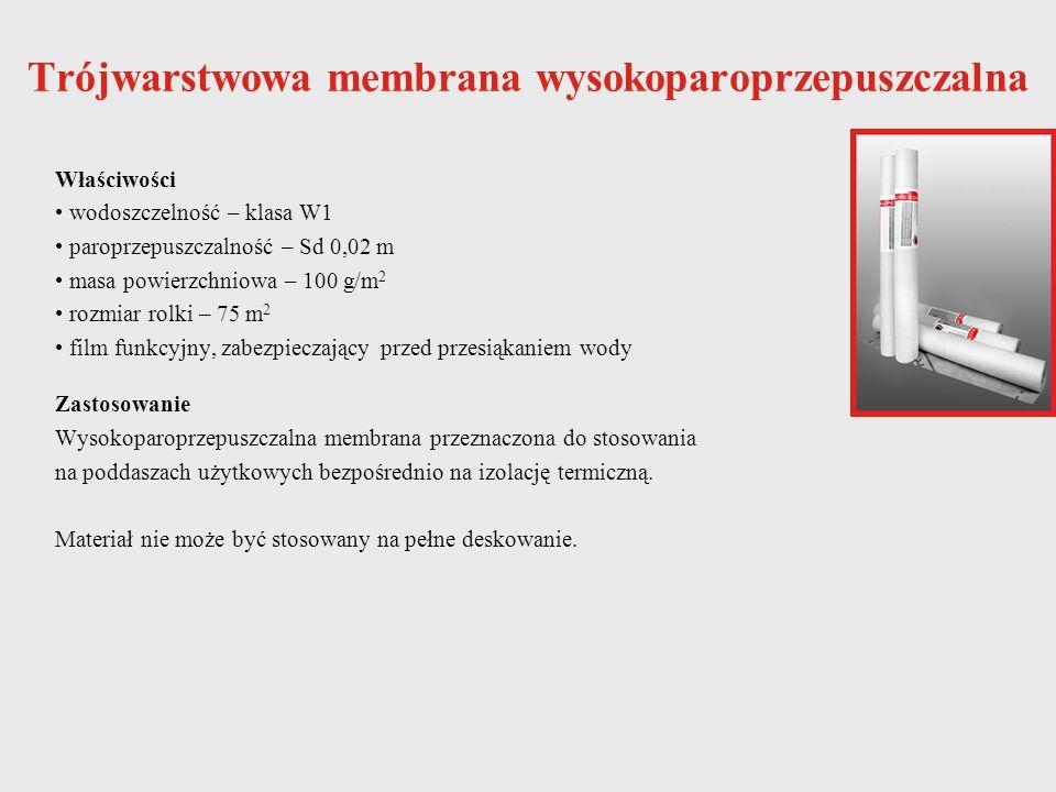 Trójwarstwowa membrana wysokoparoprzepuszczalna