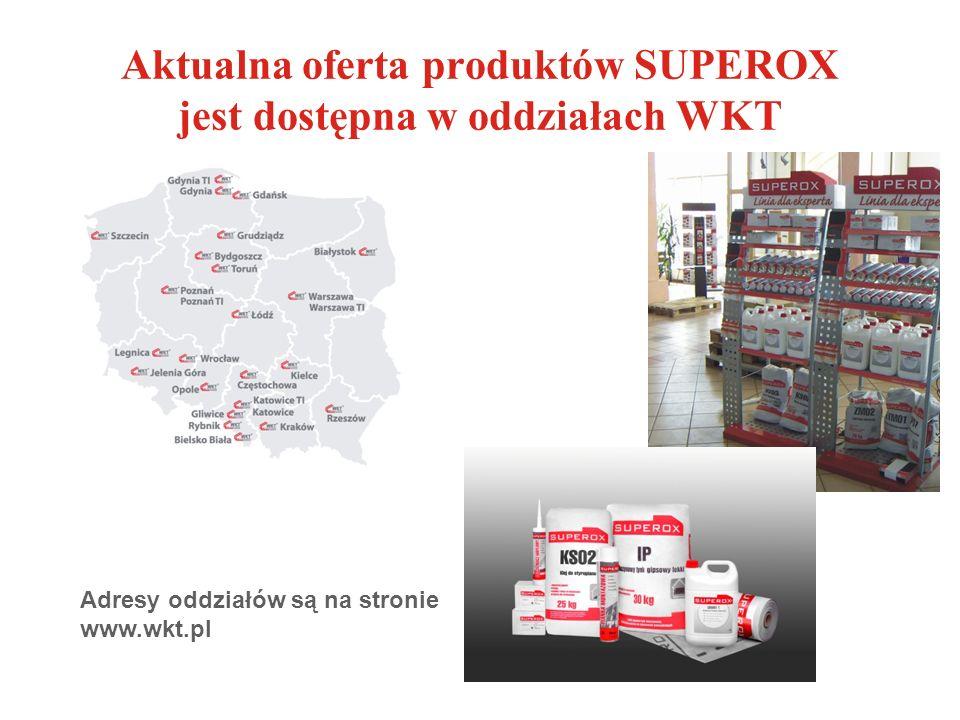 Aktualna oferta produktów SUPEROX jest dostępna w oddziałach WKT