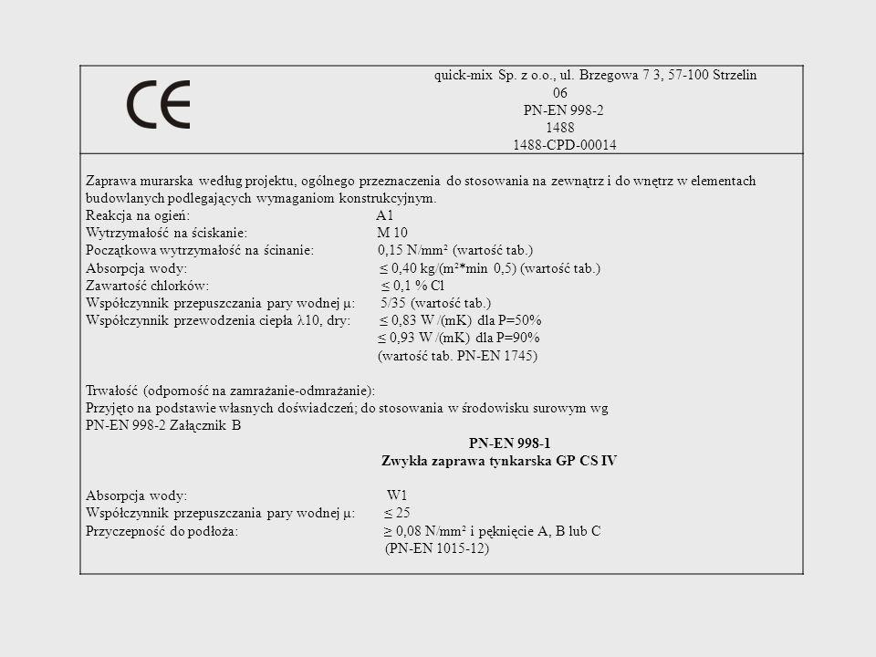 quick-mix Sp. z o.o., ul. Brzegowa 7 3, 57-100 Strzelin