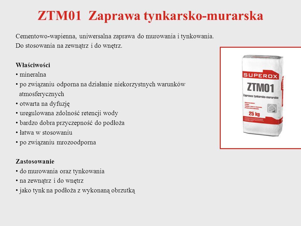 ZTM01 Zaprawa tynkarsko-murarska