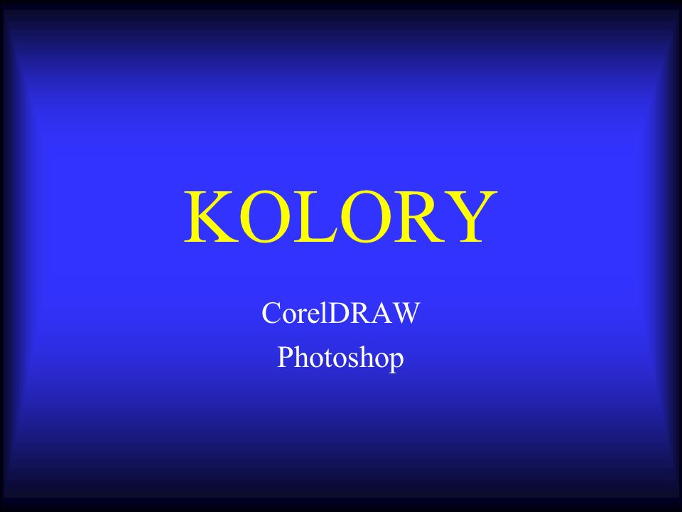KOLORY CorelDRAW Photoshop