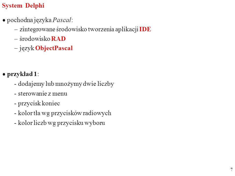pochodna języka Pascal: