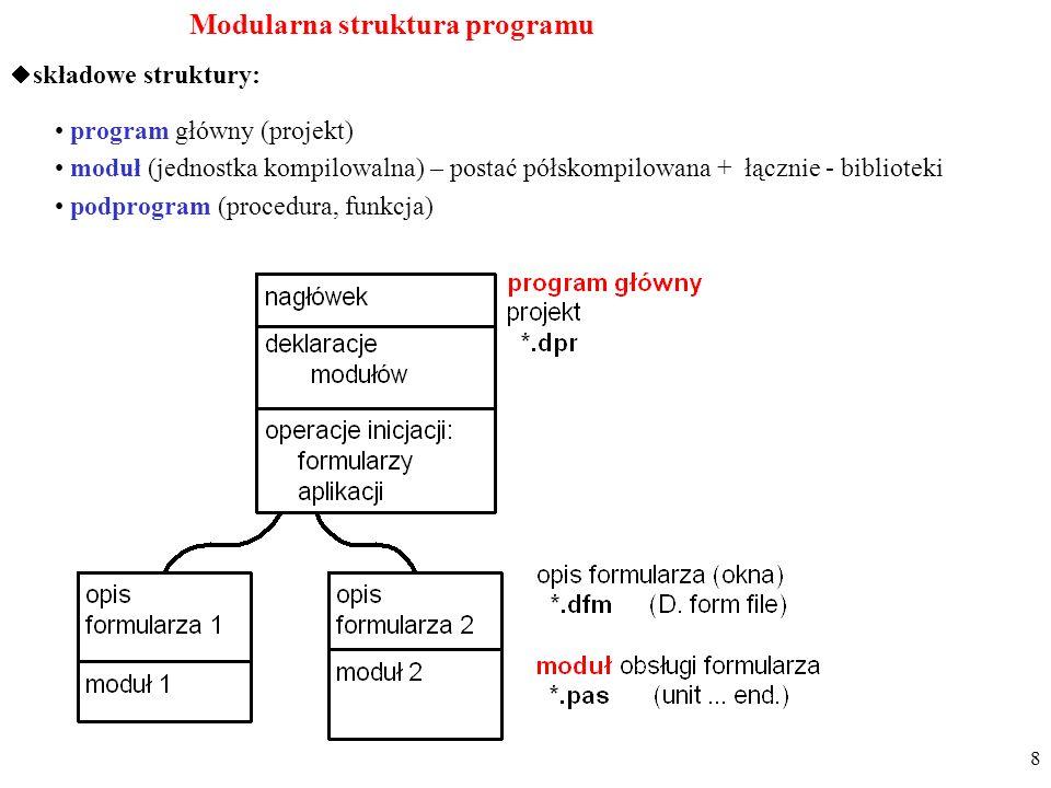 Modularna struktura programu