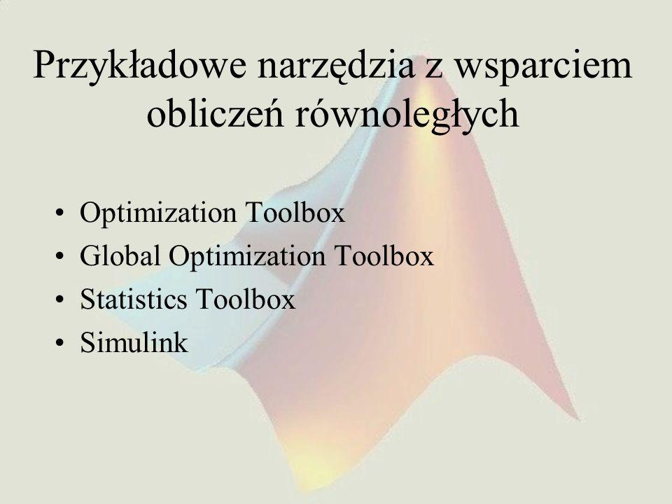 Przykładowe narzędzia z wsparciem obliczeń równoległych
