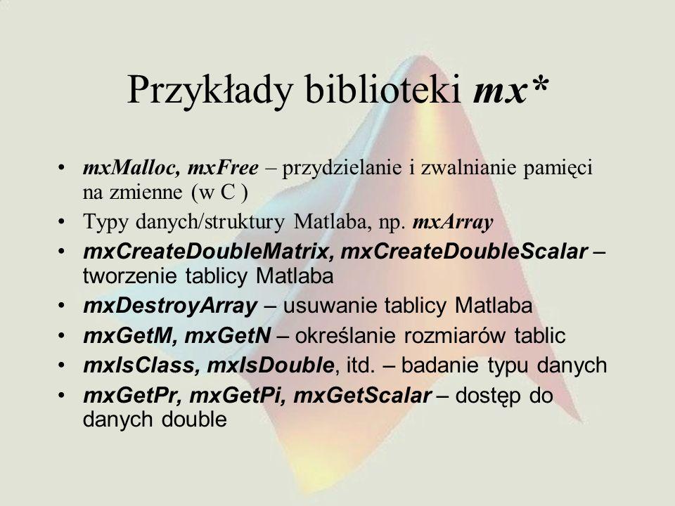 Przykłady biblioteki mx*