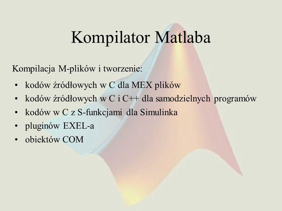 Kompilator Matlaba Kompilacja M-plików i tworzenie: