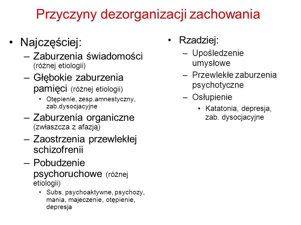 Przyczyny dezorganizacji zachowania