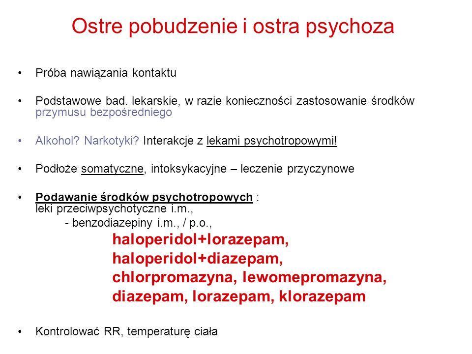 Ostre pobudzenie i ostra psychoza