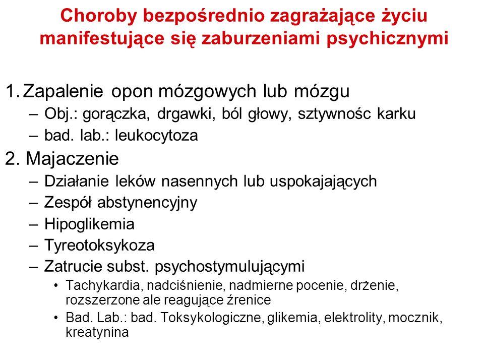 1. Zapalenie opon mózgowych lub mózgu