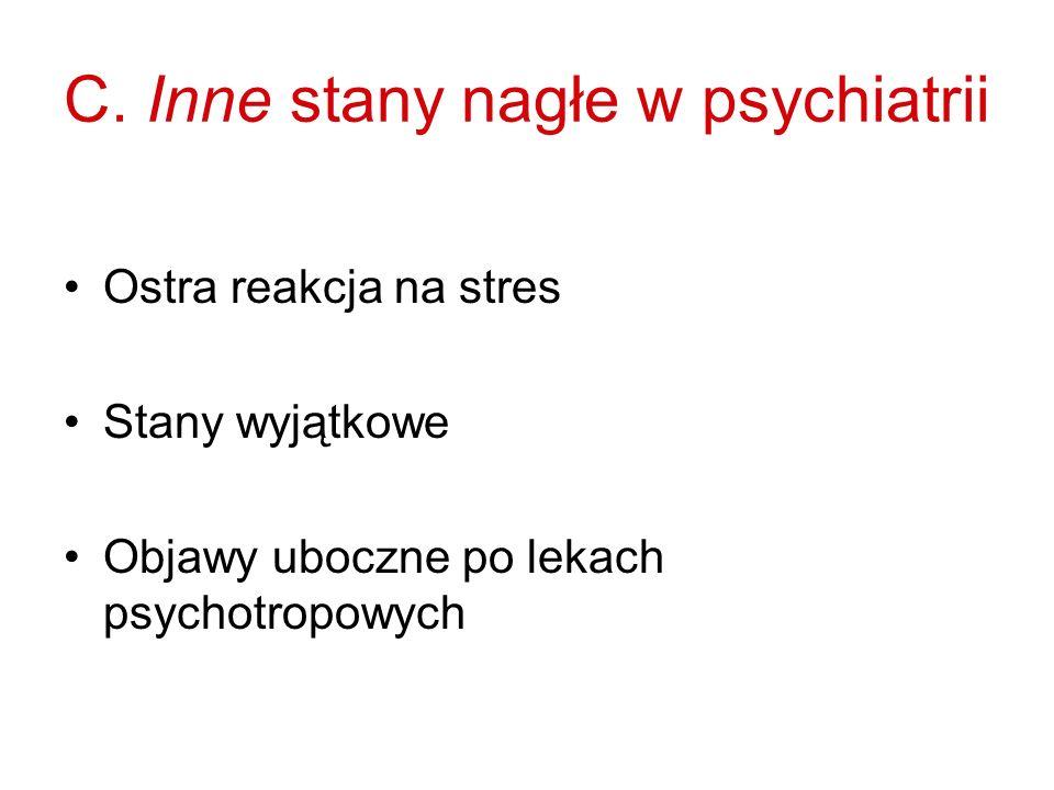 C. Inne stany nagłe w psychiatrii
