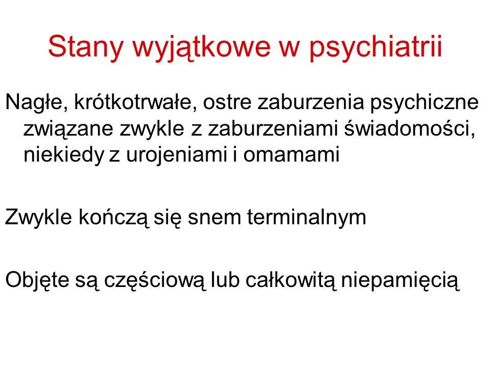 Stany wyjątkowe w psychiatrii