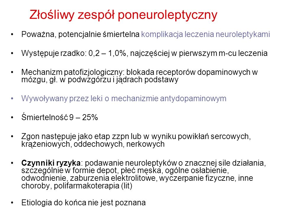 Złośliwy zespół poneuroleptyczny
