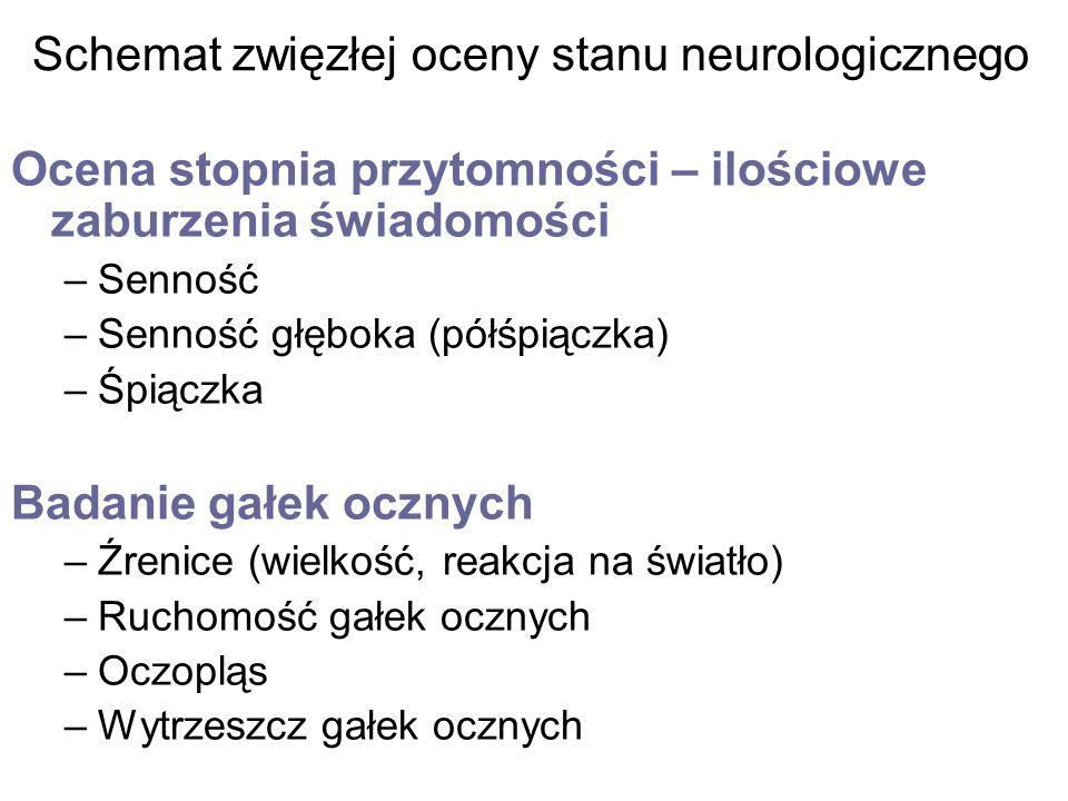 Schemat zwięzłej oceny stanu neurologicznego