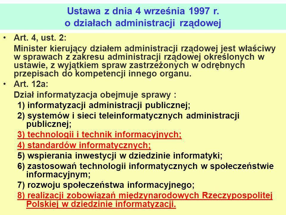 Ustawa z dnia 4 września 1997 r. o działach administracji rządowej