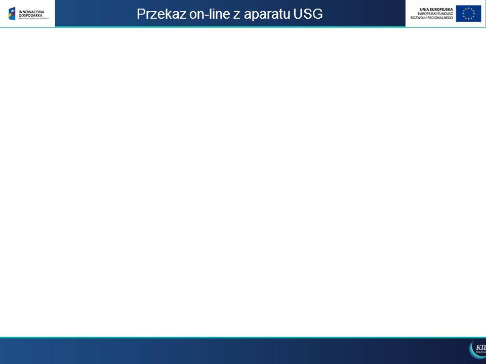 Przekaz on-line z aparatu USG