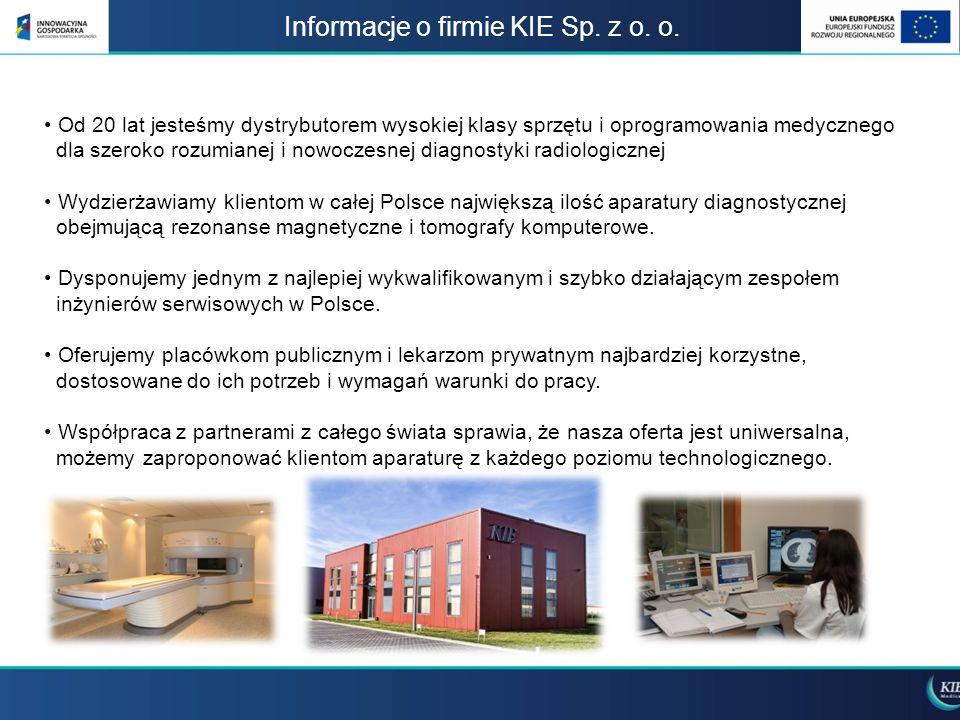 Informacje o firmie KIE Sp. z o. o.