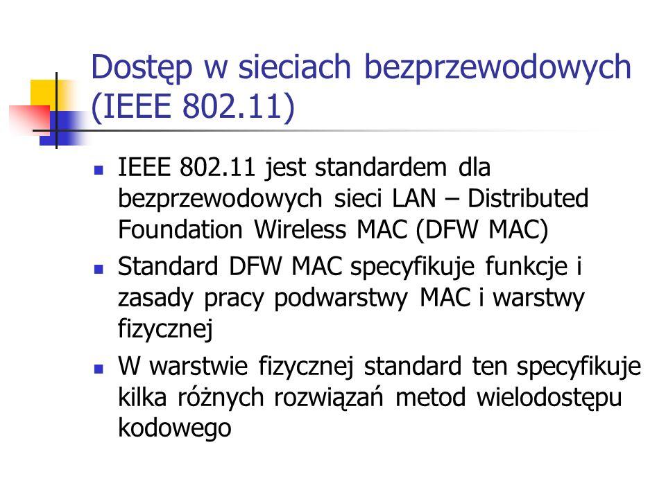 Dostęp w sieciach bezprzewodowych (IEEE 802.11)