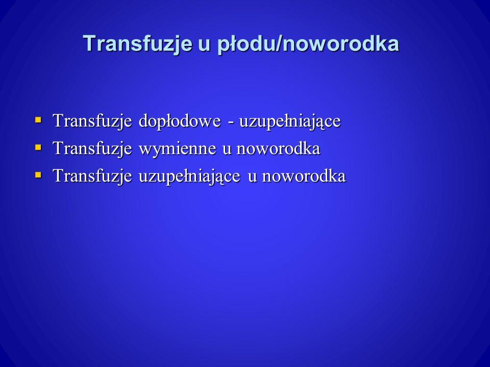 Transfuzje u płodu/noworodka