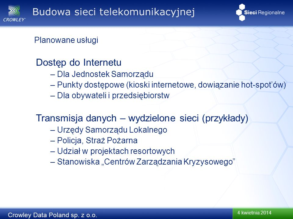Budowa sieci telekomunikacyjnej