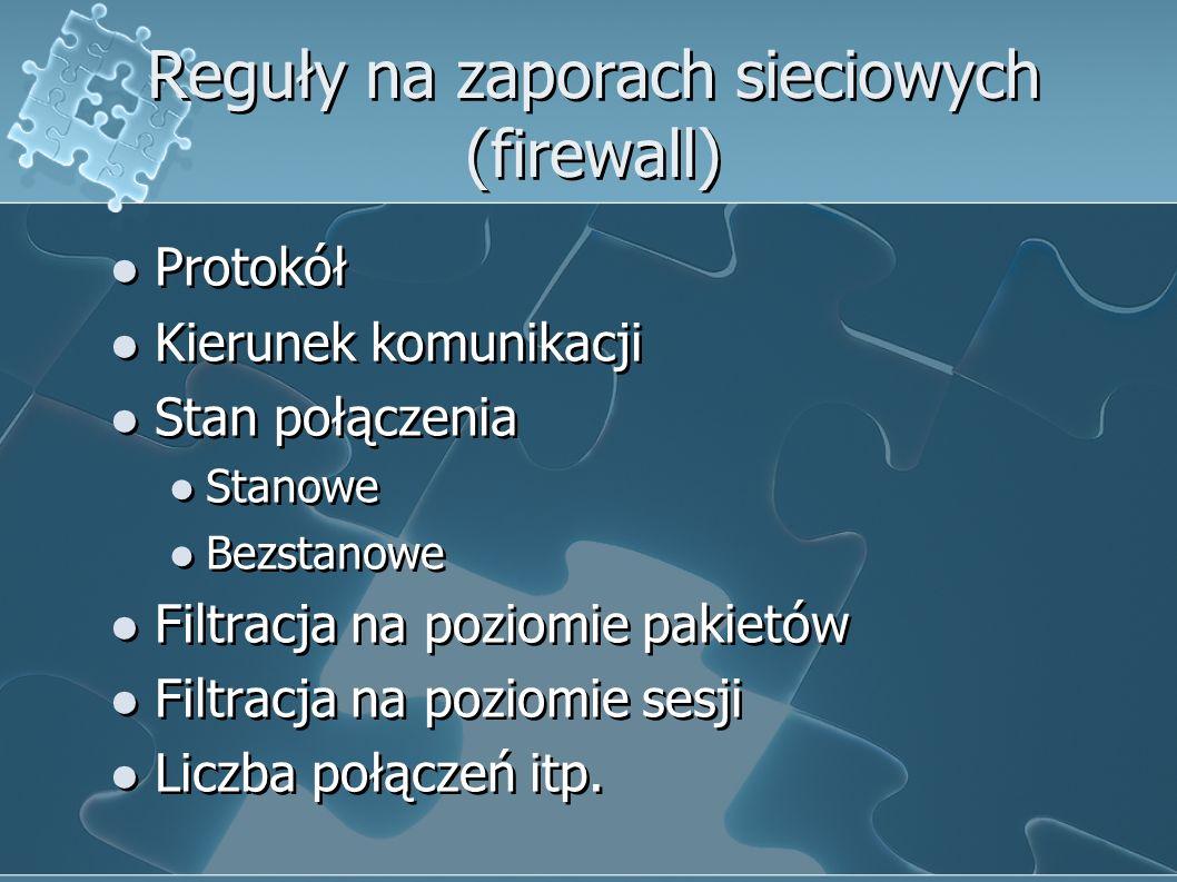 Reguły na zaporach sieciowych (firewall)