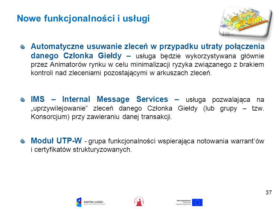 Nowe funkcjonalności i usługi