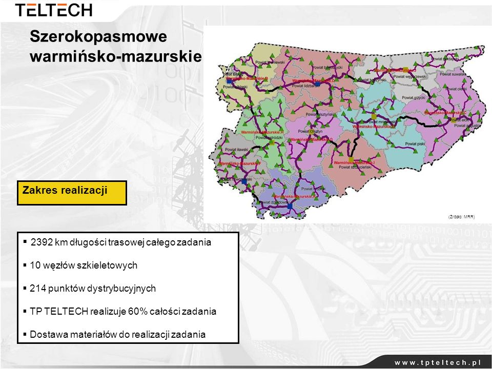 Szerokopasmowe warmińsko-mazurskie Zakres realizacji