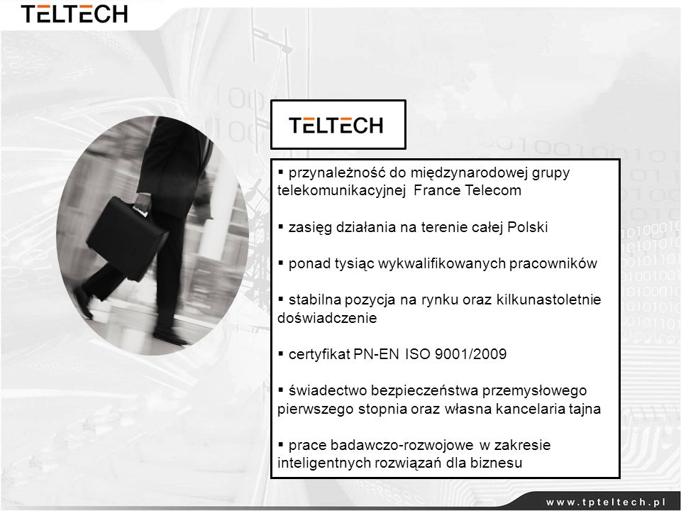 przynależność do międzynarodowej grupy telekomunikacyjnej France Telecom