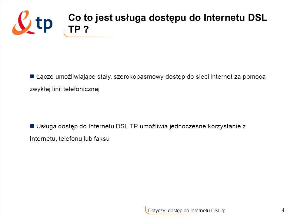 Co to jest usługa dostępu do Internetu DSL TP