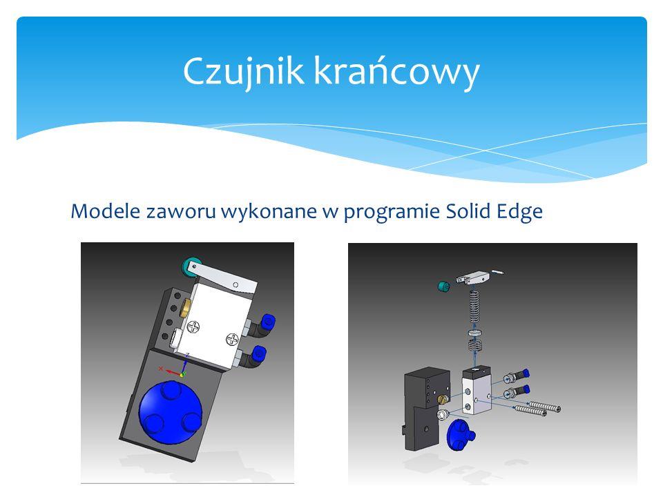 Czujnik krańcowy Modele zaworu wykonane w programie Solid Edge