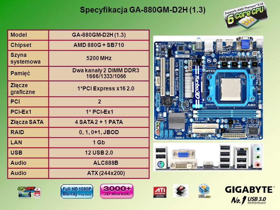 Specyfikacja GA-880GM-D2H (1.3)