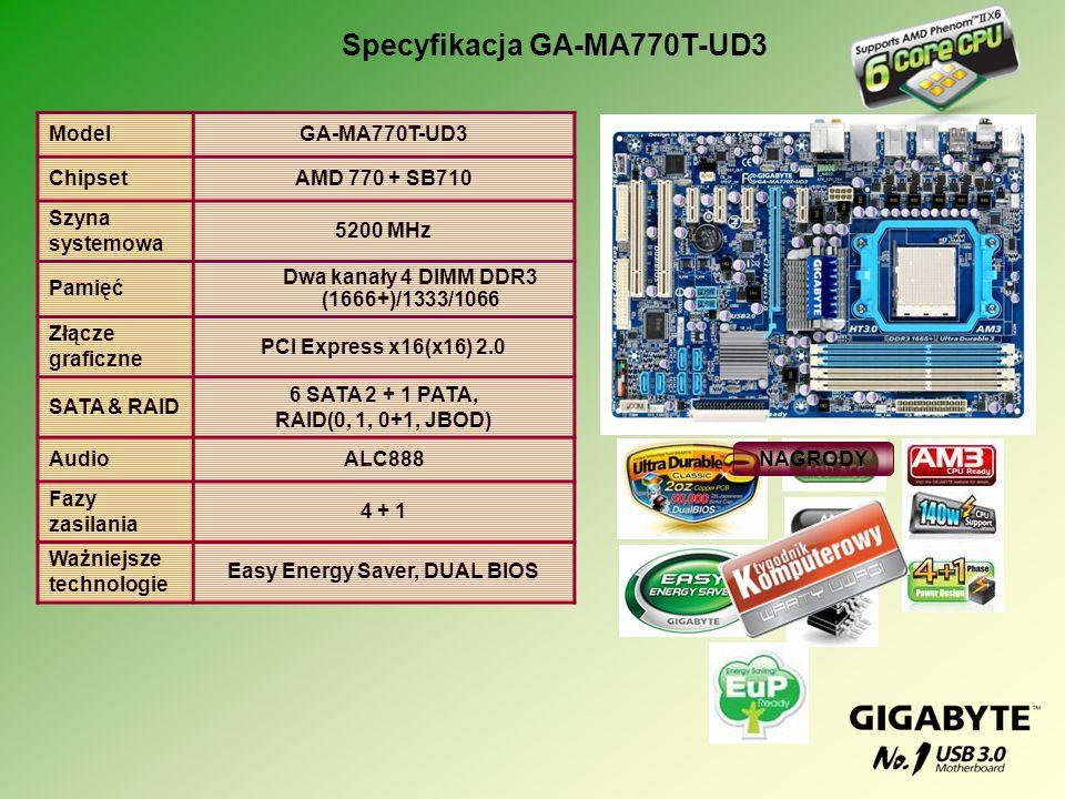 Specyfikacja GA-MA770T-UD3