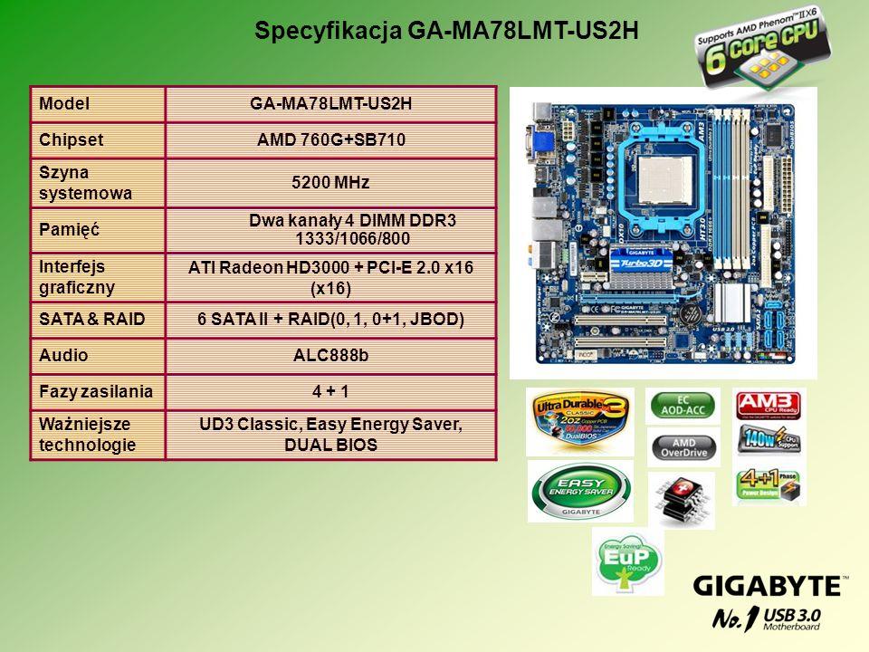 Specyfikacja GA-MA78LMT-US2H