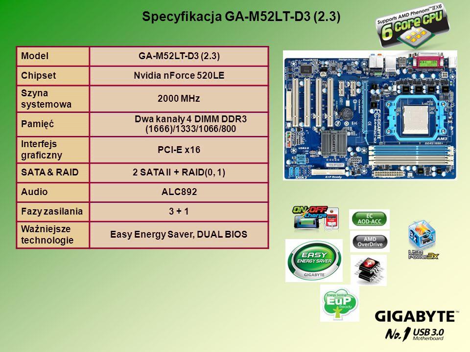 Specyfikacja GA-M52LT-D3 (2.3)