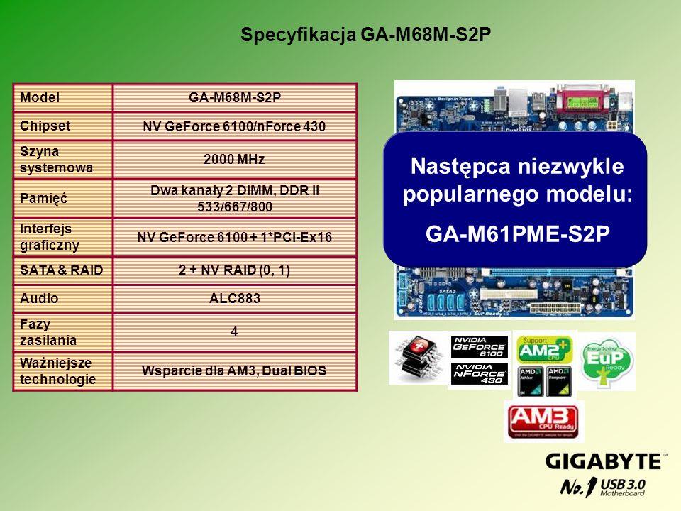 Następca niezwykle popularnego modelu: GA-M61PME-S2P