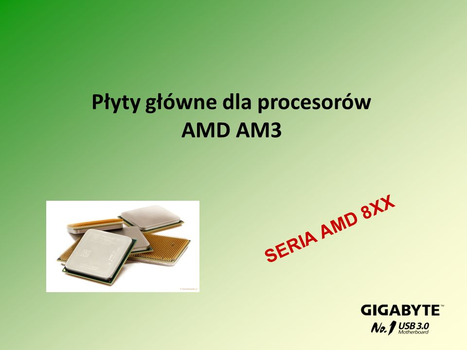 Płyty główne dla procesorów AMD AM3