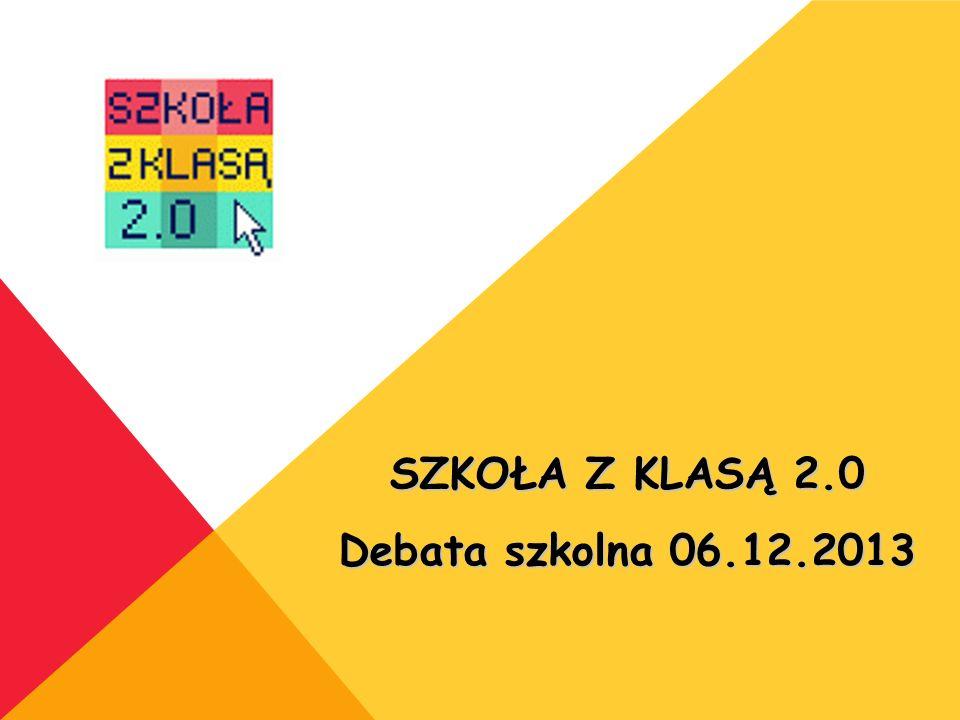SZKOŁA Z KLASĄ 2.0 Debata szkolna 06.12.2013