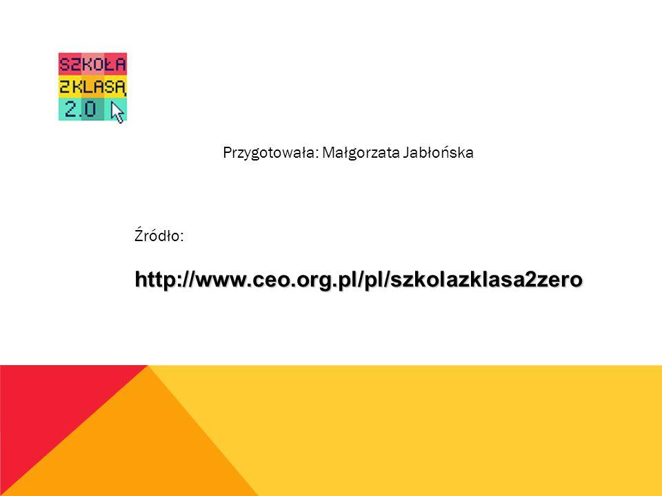 Przygotowała: Małgorzata Jabłońska