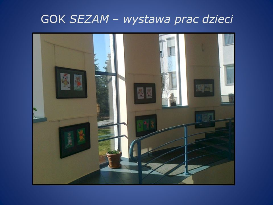 GOK SEZAM – wystawa prac dzieci