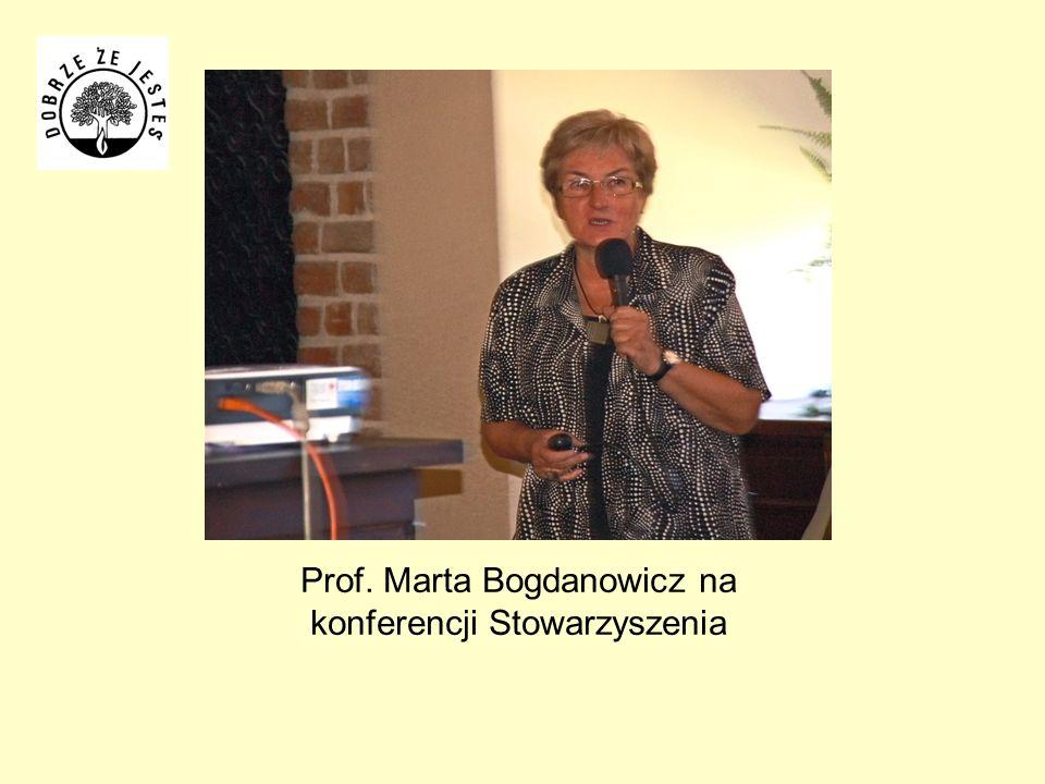 Prof. Marta Bogdanowicz na konferencji Stowarzyszenia